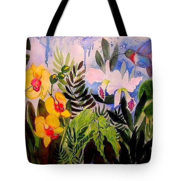 Hummers And Orchids Tote Bag