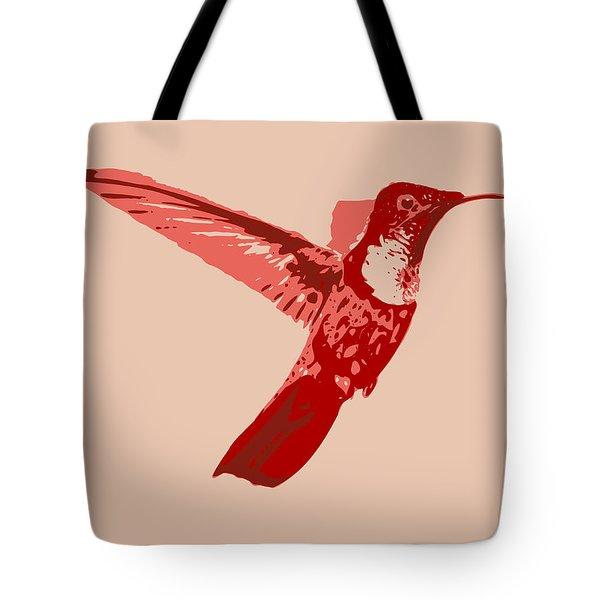 humming bird Contours Tote Bag by Keshava Shukla
