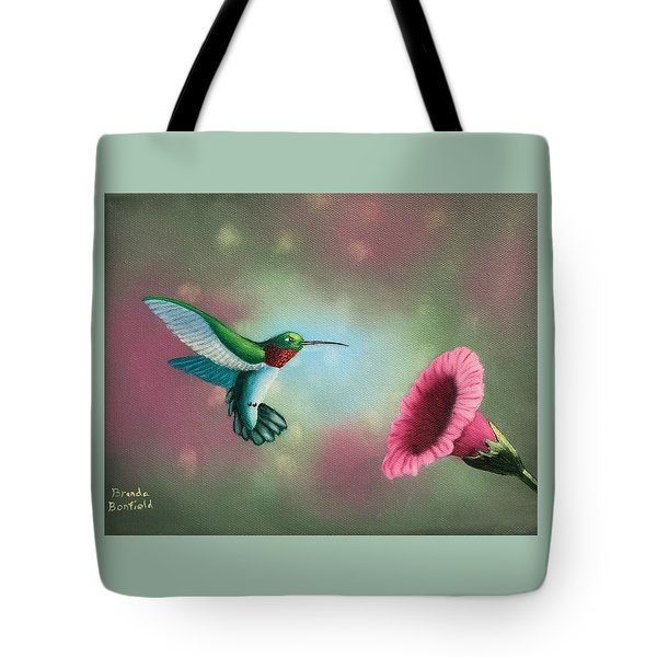 Humming Bird Feeding Tote Bag