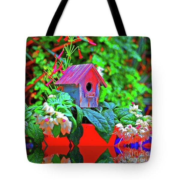 Humming Bird House Tote Bag