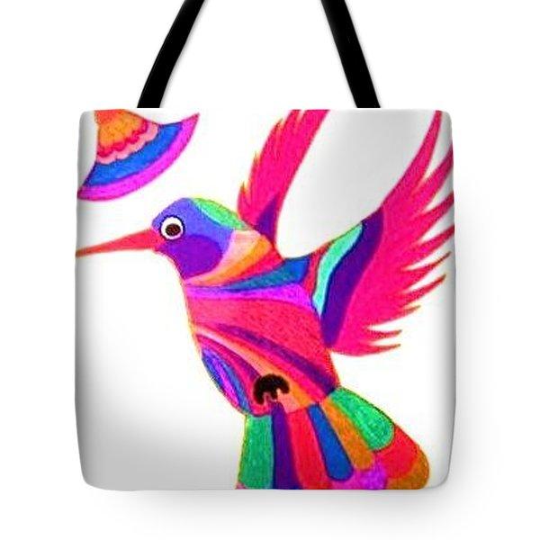 Humming Bird Tote Bag by Kruti Shah
