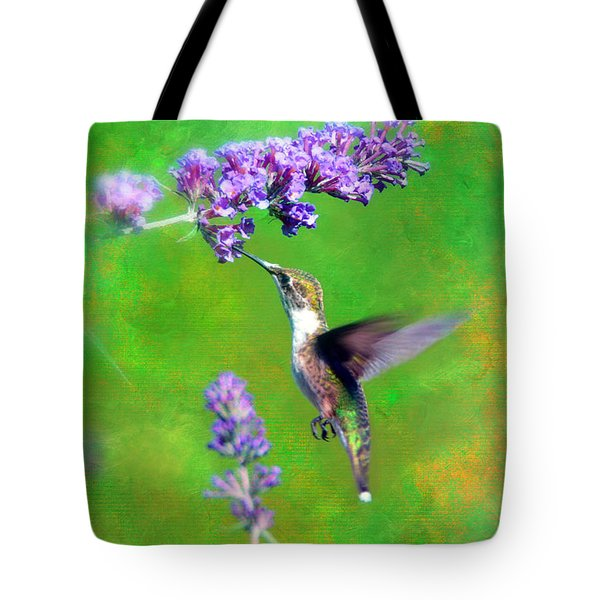 Humming Bird Visit Tote Bag