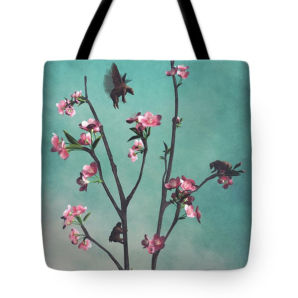 Hummingbears Tote Bag