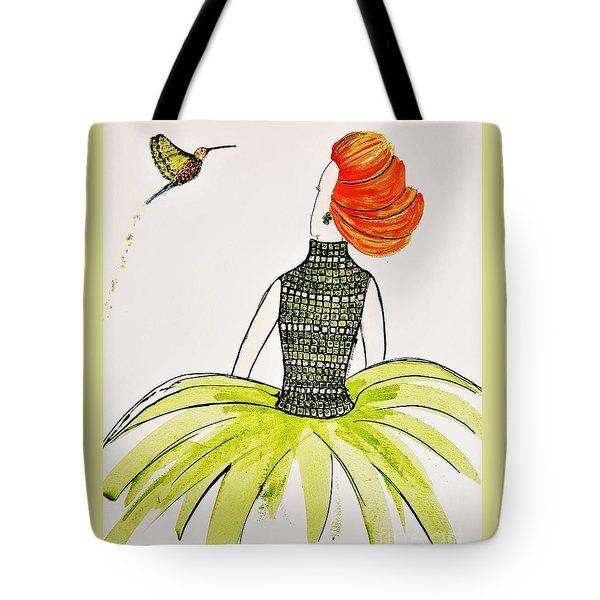 Hummingbird Admirer Tote Bag