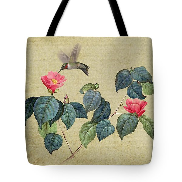 Hummingbird And Japanese Camillea Tote Bag