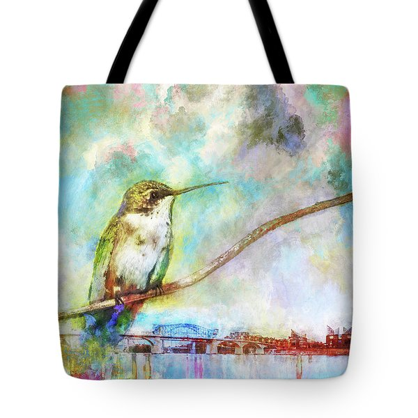 Hummingbird By The Chattanooga Riverfront Tote Bag