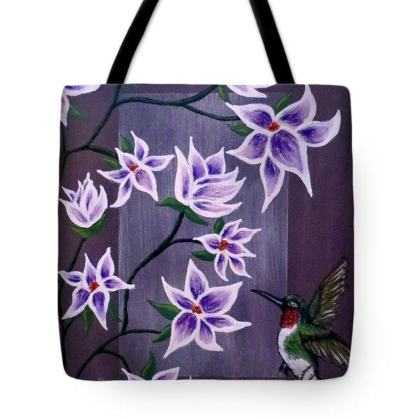 Hummingbird Delight Tote Bag by Teresa Wing