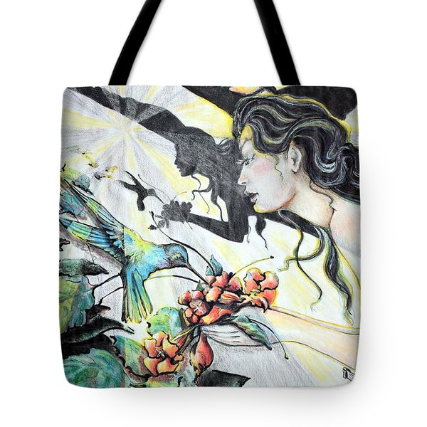 Hummingbird Feeder Tote Bag