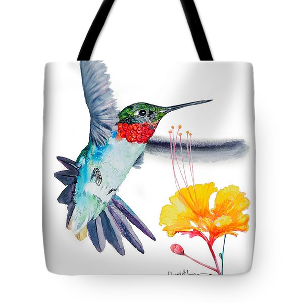 Da169 Hummingbird Flittering Daniel Adams Tote Bag