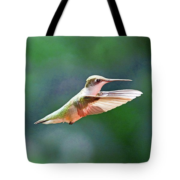 Hummingbird Flying Tote Bag