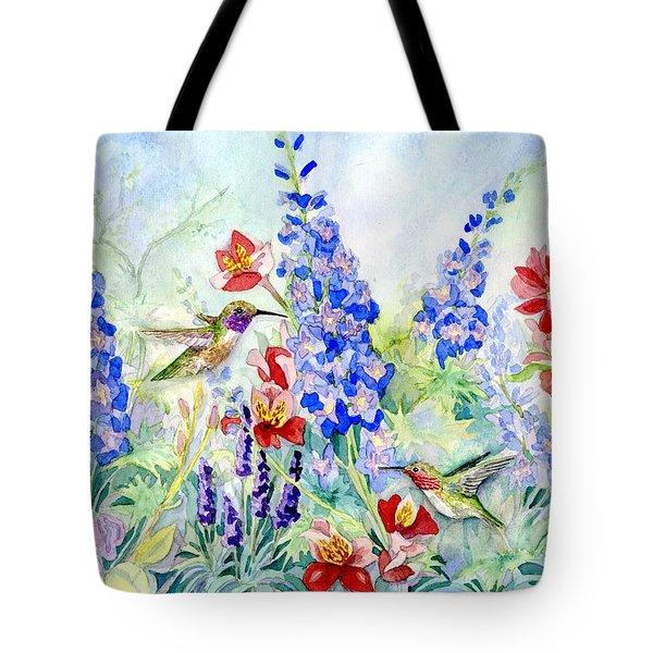 Hummingbird Garden In Spring Tote Bag