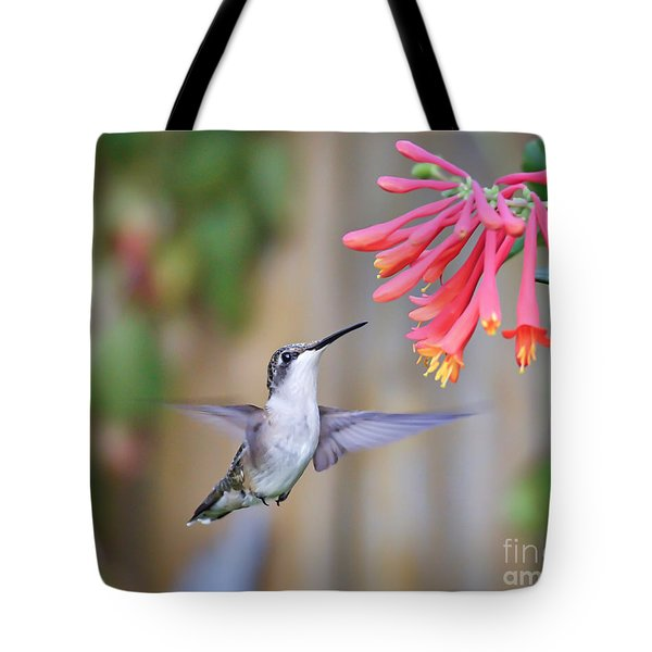 Hummingbird Happiness 2 Tote Bag
