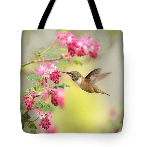 Hummingbird Heaven 2 Tote Bag by Angie Vogel