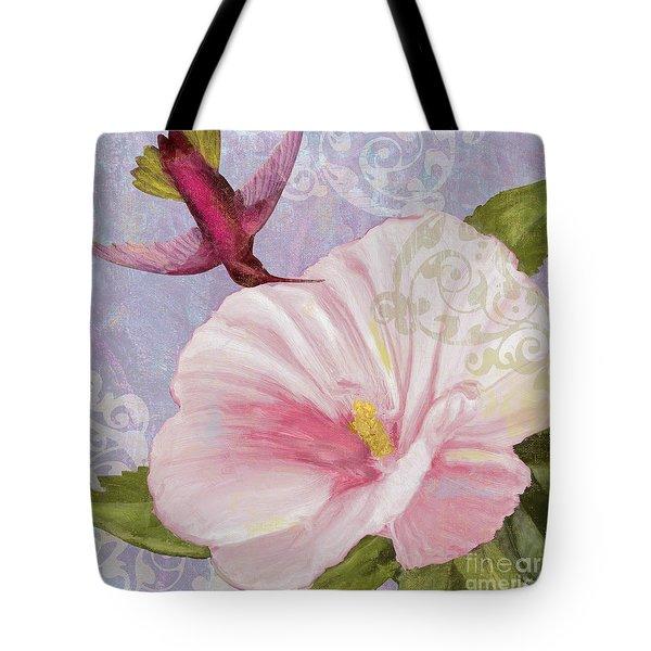 Hummingbird Hibiscus II Tote Bag