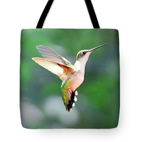 Hummingbird Hovering Tote Bag by Meta Gatschenberger