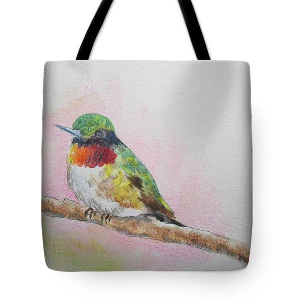 Tote Bag featuring the painting Hummingbird II by Gloria Turner