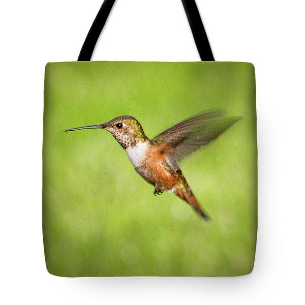 Hummingbird In Flight Tote Bag