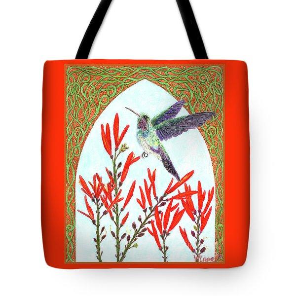 Hummingbird In Opening Tote Bag