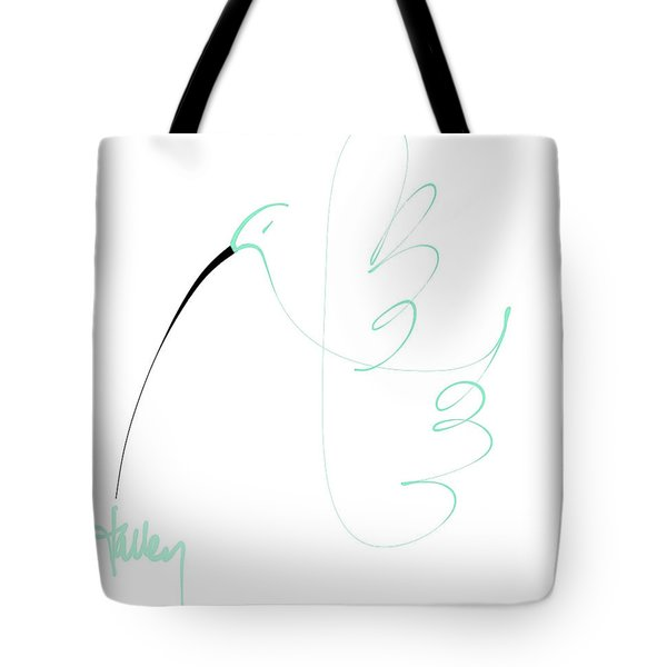Tote Bag featuring the mixed media Hummingbird by Larry Talley