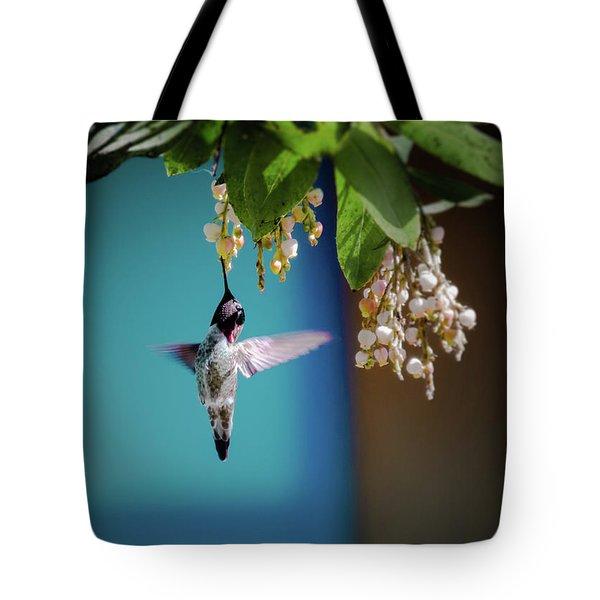 Hummingbird Moment Tote Bag by Mark Dunton