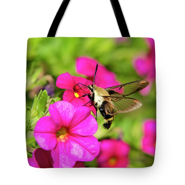 Tote Bag featuring the photograph Hummingbird Moth by Christina Rollo
