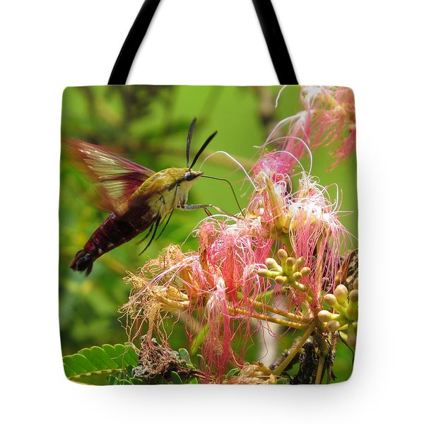 Tote Bag featuring the photograph Hummingbird Moth by Phyllis Beiser