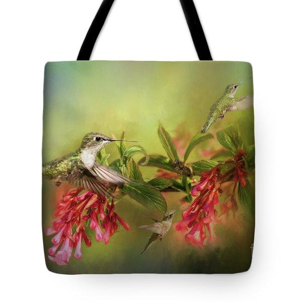 Hummingbird Paradise Tote Bag