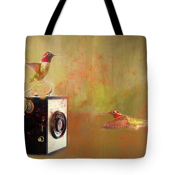 Hummingbird Photo Shoot Tote Bag