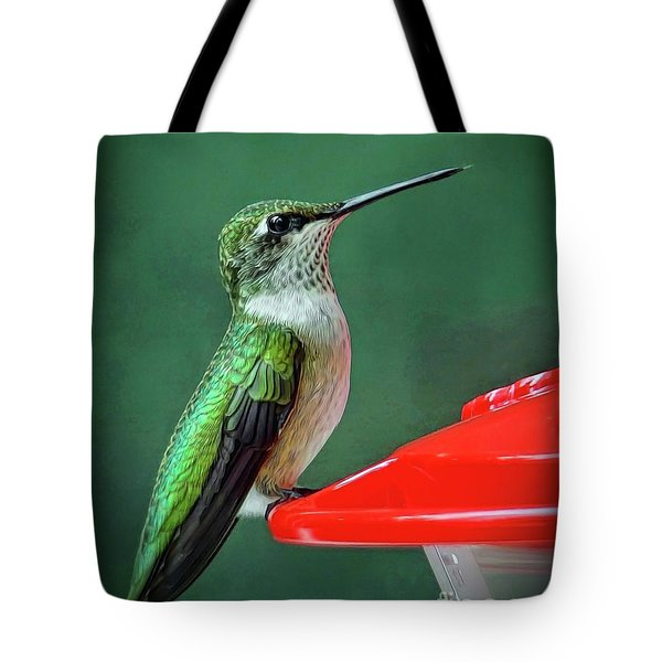 Tote Bag featuring the photograph Hummingbird Portrait by Sue Melvin