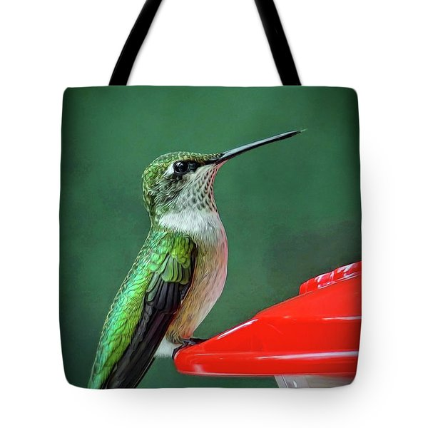 Hummingbird Portrait Tote Bag