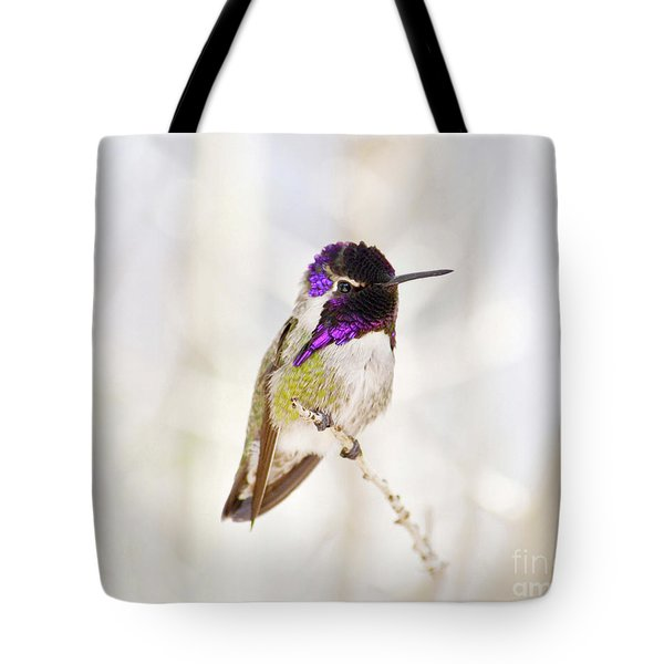 Hummingbird Tote Bag by Rebecca Margraf