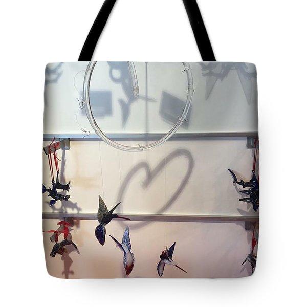 Hummingbird Shadows Tote Bag