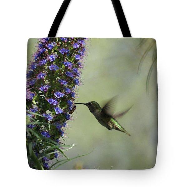 Hummingbird Sharing Tote Bag by Ernie Echols