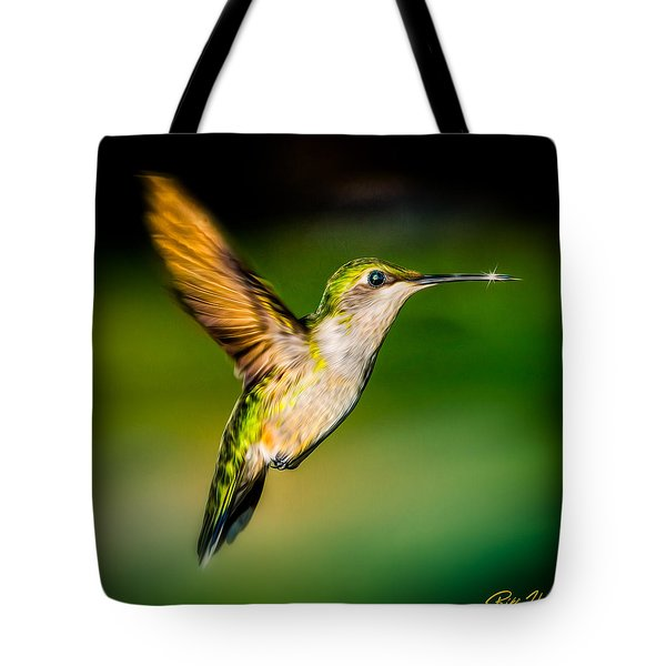 Hummingbird Sparkle Tote Bag