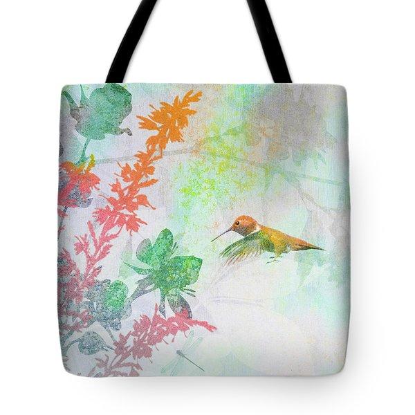 Hummingbird Summer Tote Bag