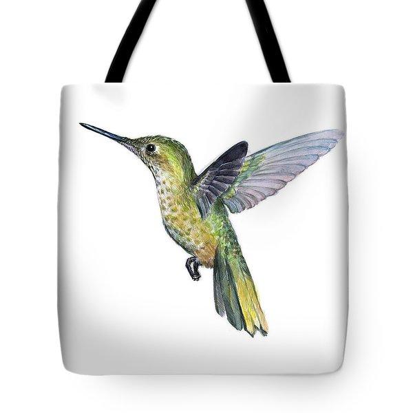 Hummingbird Watercolor Illustration Tote Bag