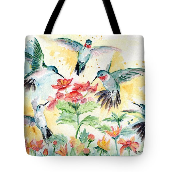 Hummingbirds Party Tote Bag by Melly Terpening