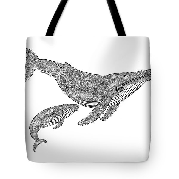 Humpback And Calf Tote Bag by Carol Lynne