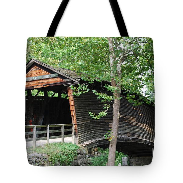 Tote Bag featuring the photograph Humpback Bridge by Eric Liller