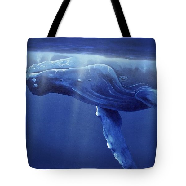 Humpback Portrait Tote Bag