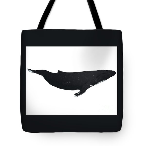 Humpback Whale Profile Tote Bag by Corey Ford