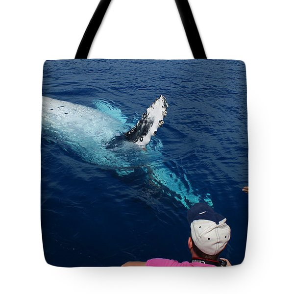Humpback Whale Reaching Out Tote Bag