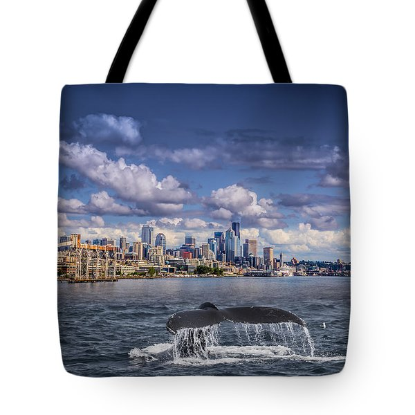 Humpback Whale-seattle Tote Bag
