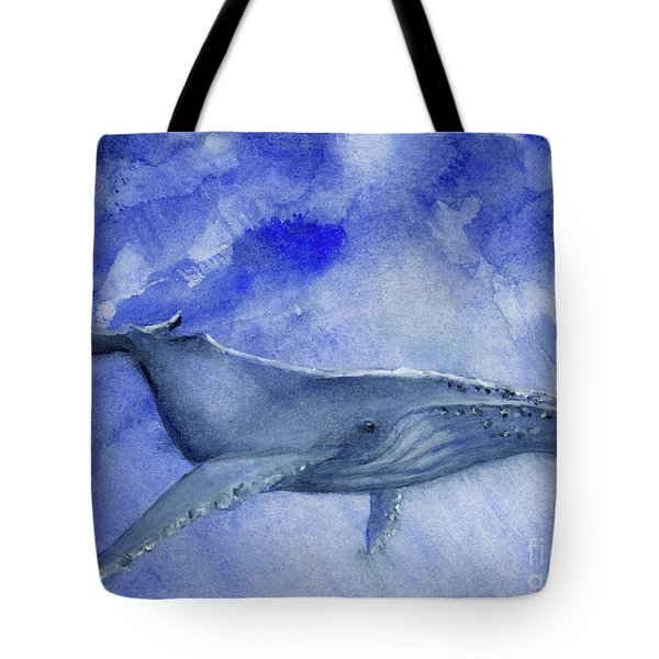 Humpback Yearling Under Our Boat Tote Bag