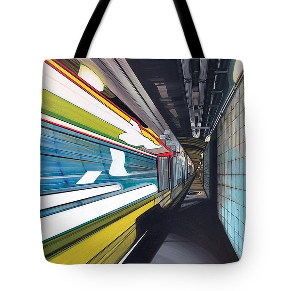 Tote Bag featuring the painting Humphrey Terminal by Jude Labuszewski