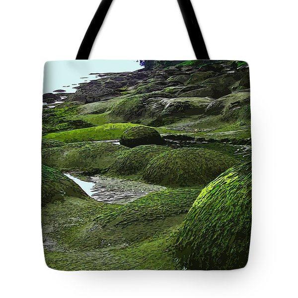 Humps And Bumps, Gabriola Shoreline Tote Bag by Anne Havard