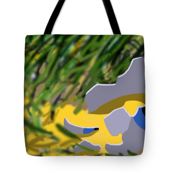 Tote Bag featuring the digital art Humpty by Tom Dickson