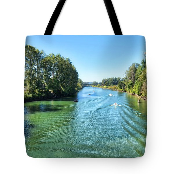 Humpy Day On The River Tote Bag