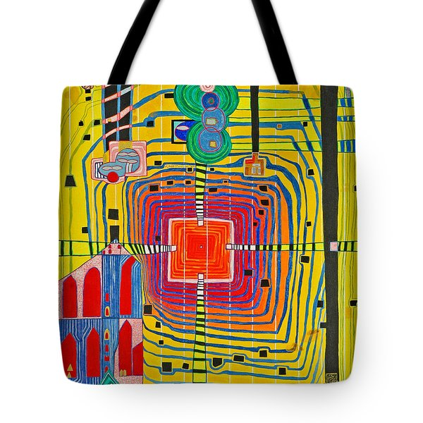 Hundertwassers Close Up Of Infinity Tagores Sun Tote Bag