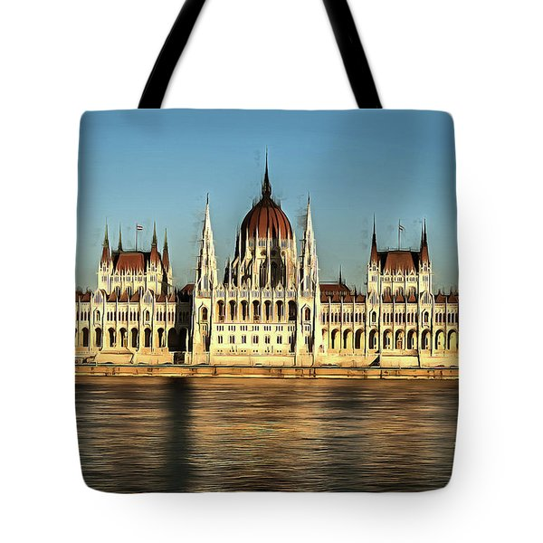 Hungarian National Parliament Tote Bag